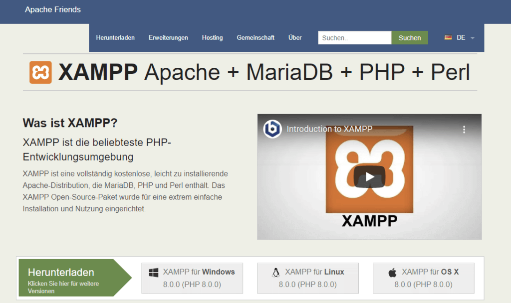XAMPP Download